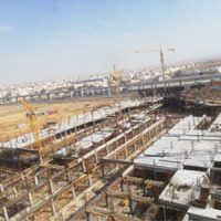 Completion of the foundation of Al Jawhara Mall project